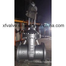 ANSI 300lb Cast Steel Worm Gear Flange End Gate Valve