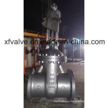 ANSI 300lb Литой стальной червячный редуктор Фланцевый запорный клапан