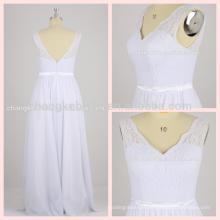 New Arrival Shoulder Straps V-neck A-line Lace And Chiffon Bridesmaid Dresses Long Plus Size