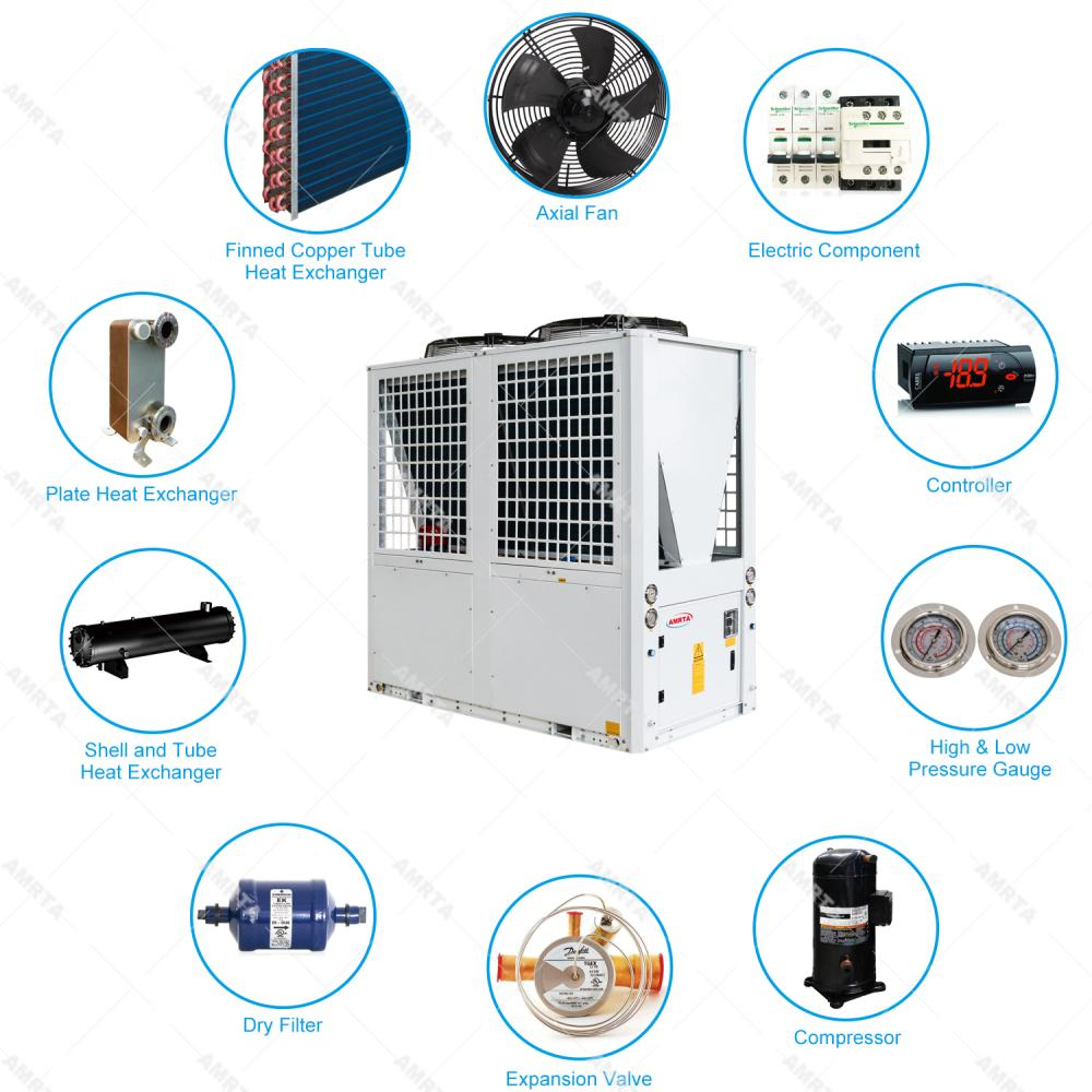 Fast Cooling Air Cooled Dairy Water Chiller