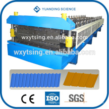 Passed CE and ISO YTSING-YD-6613 Automatic PLC System Double Layer Roofing Tile Roll Forming Machine