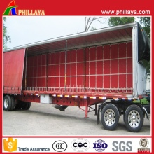 Automatic Tarpaulin PVC Box Van Curtain Side Semi Trailer