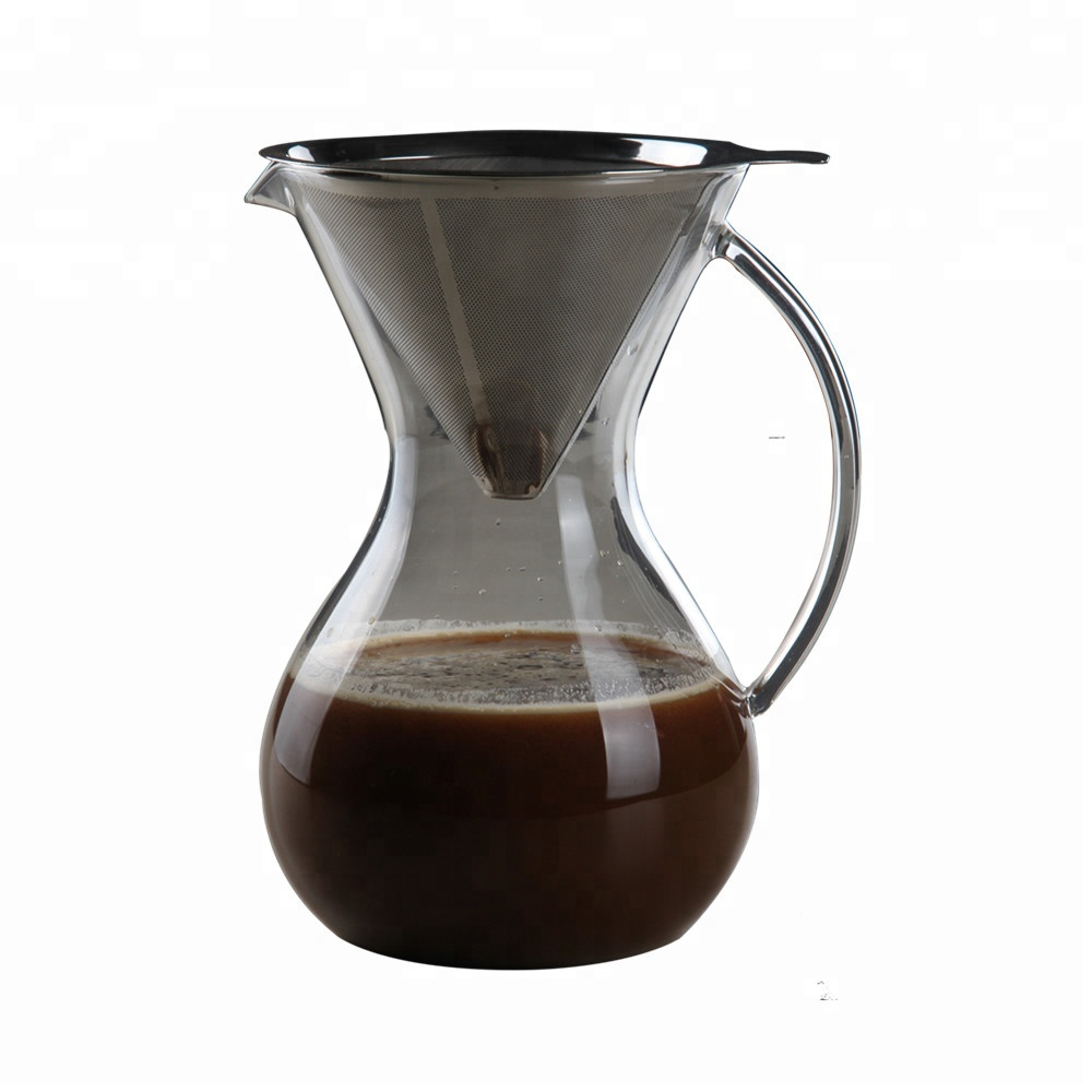 Pour Over Coffee Maker With Filter Borosilicate