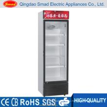 158L Коммерческая стеклянная дверь Безалкогольный напиток Холодильник Витрина Холодильник