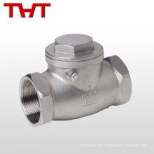 Einweg-Wasser-Edelstahl-Kraftstoffrückschlagventil