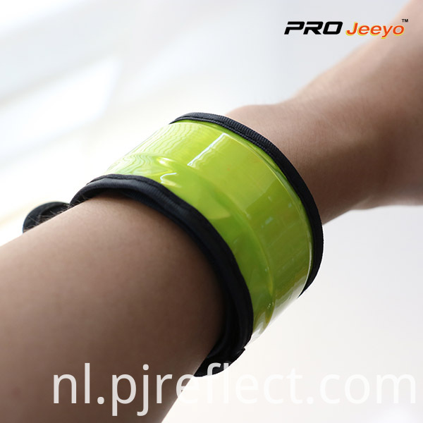 Reflective Safety Fluo Yellow Slap BraceletWB-JG002