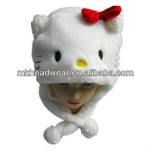 cute plush hello kitty hat/hats