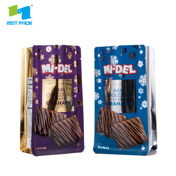 Matt Coating Flat Bottom Foil Bag Para Chocolate