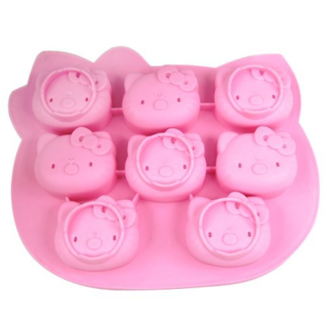 8 faces Pink Novelty Silicone Glacê Moldes