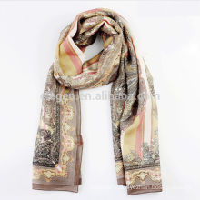High Quality Wool Printing Long Scarf
