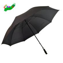 Black color stock economic manual open premium logo printing golf umbrella