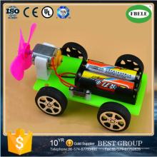 Diy carro movido a ar carro modelo de tecnologia de brinquedos educativos para crianças (feble)