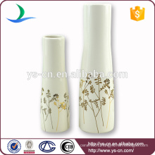 YSv0040 Home decoration ceramic vase with golden floral design