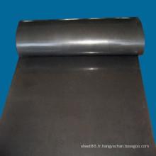 Feuilles de caoutchouc isolantes électriques noires