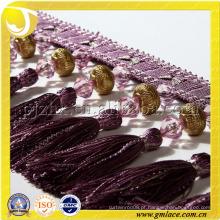 12cm de fralda com borracha Fralda Fralda Sequined Lace Tecido Tassel De Latão Para Cortina