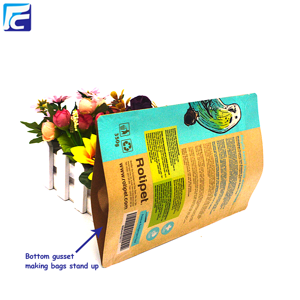 Plastic Lined Kraft Paper Bag Empty Tea Bag