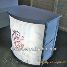 escritorio de recepción barato moderno personalizado escritorio de recepción de exposición de mesa de recepción moderna de oficina
