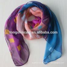 Damen Polyester bedruckt 1 Dollar Schal