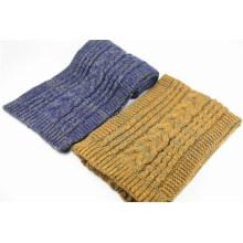 Женские зимние унисекс теплый Цвет комбинированный кабель тяжелый вязаный шарф (SK165)