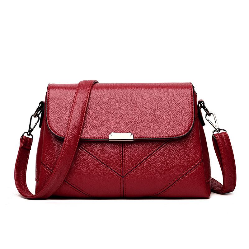 Newest large elegant office lady leather shoulder handbags