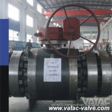 High Pressure Gearbox Trunnion Mounted Ball Valve