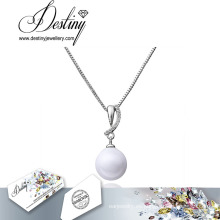 Destino joyería collar de perlas plomo gratis cristales de Swarovski