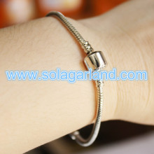 190MM Length Silver/ Plated Snake Chain Fit European Beads Charm Bracelet