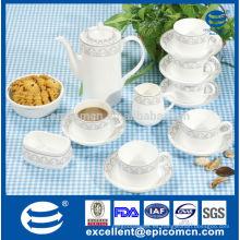 Set de té de la impresión del diseño de la plata 17pcs en nuevo material de la chihuahua