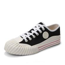 Zapatos casuales de lona blancos bajos para hombre