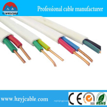 BVVB Cable 2core 1.5mm Copper Flat Cable Manufacturer White Sheath