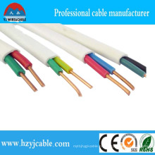 BVVB кабель 2core 1,5 мм медный плоский кабель Производитель White Sheath