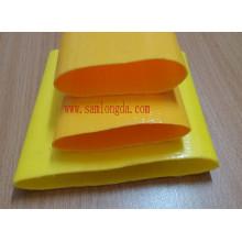 Manguera amarilla Layflat de riego con calidad de manguera soleada