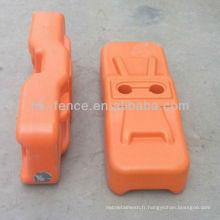 pieds de clôture temporaire / bloc / jambe / base / pied (haute qualité et prix approprié)