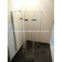 Hinge Bathtub Shower Screen with 4 Folding Glass