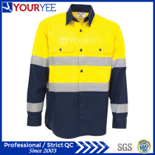 Chemises de travail sur mesure avec ventilation réversible de bande arrière (YWS119)