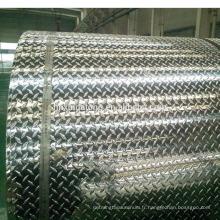 Miroir gaufré polonais fini aluminium bobine