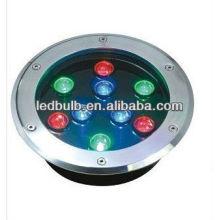 RGB 9W lumières souterraines