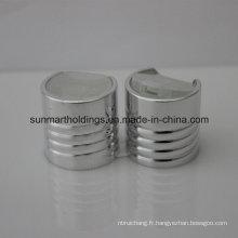 24/410 aluminium argent filetage disque casquettes