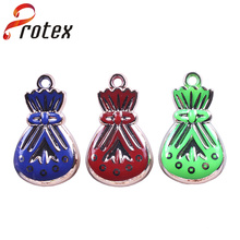 Top qualidade personalizados sacos de sorte ornamento de plástico decorativo