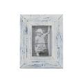 Lavar el marco de madera blanco de la foto para la decoración casera