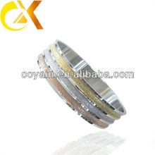 Plata Brazalete modelos Chapado de oro Sand-blast brazalete de acero inoxidable