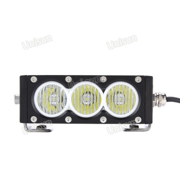 Barra de luz LED para carro CREE 12V 30W única linha