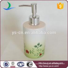 Flor y plantas baño natural fresco conjunto con dispensador de loción para el hotel