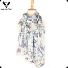 Модный легкий полиэфирный шелковый шарф