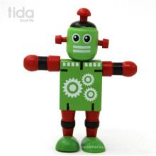 personalizar los niños más populares bloques de construcción de madera robot juguete transforman