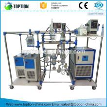 Lab New Chemglass Short Path Destilación de la máquina de destilación molecular con tres matraces de 50 ml