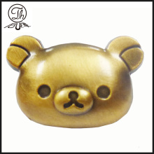 3D Pig head metal pin badge