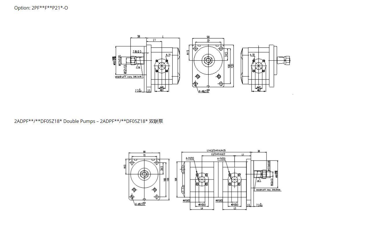 2PF ** Dimensions-1