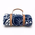 100% algodão venda quente padrão de lótus com borlas rodada toalha de praia RBT-134