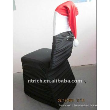 Couvertures de chaise de Spandex de Noël plissé